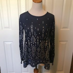 Other - Long Sleeve Navy Blue Justice Shirt